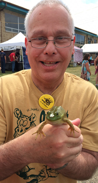 Fr. Ed with froggy friend